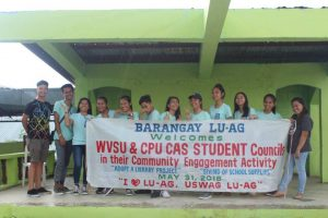 WVSU & CPU CAS STUDENT Council in their Community Engagement Activity on May 31 2018